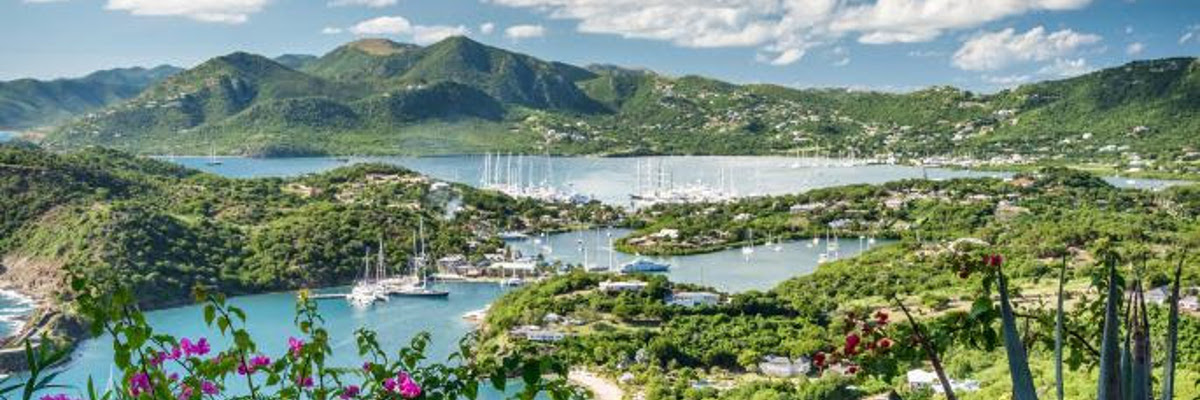 Hit the sails: the yachtie haven of English Harbour, Antigua. The country's 365 pristine beaches are a big draw for British buyers