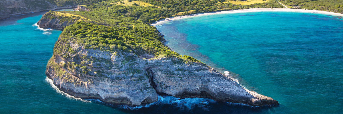 The South-East crescent coast of Antigua is being transformed into a resort that aims to redefine luxury